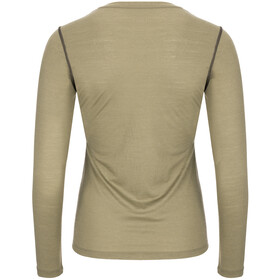 super.natural Base 175 Langarmshirt Damen bamboo/killer khaki
